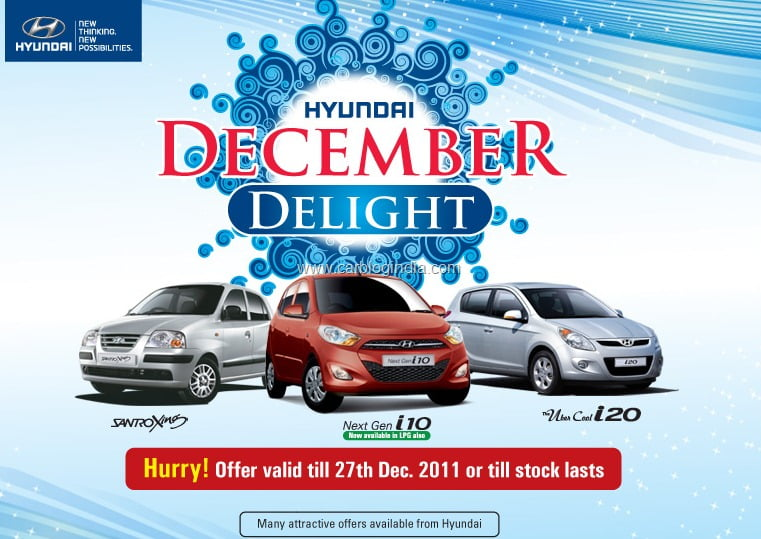 December 2011 Discounts On Hyundai Cars In India Details