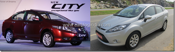 New Honda City 2012 Automatic Vs Ford Fiesta 2012 Automatic