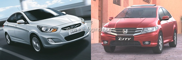 New Honda City 2011 Vs Hyundai Verna Fluidic Petrol- Which Sedan Is Better And Why?