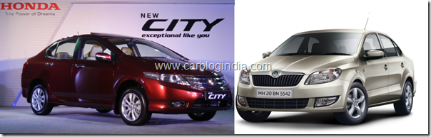New Honda City 2011 Vs Skoda Rapid Petrol– Which Sedan Is Better And Why?