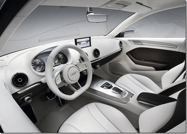 Audi A3 e-Tron Concept interiors