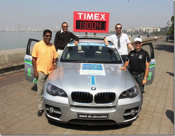 BMW X6 _ the lead car of the Standard Chartered Mumbai Marathon 2012