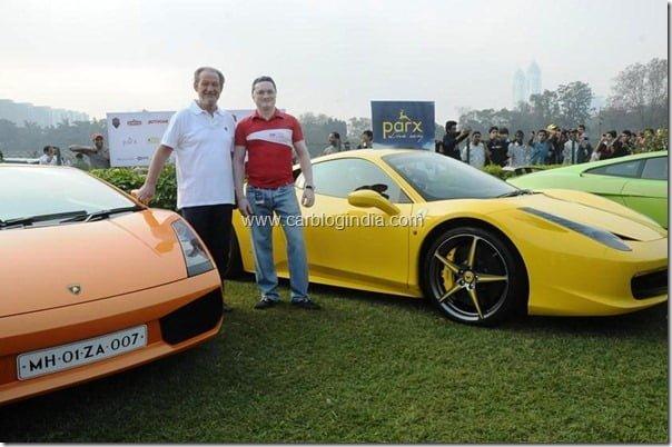 Gautam Singhania alongwith Valentino Balboni, former test driver, Automobili Lamborghini
