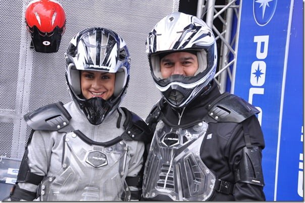 Gul Panag along with Mr. Pankaj Dubey MD Polaris India unveiling Polaris youth powersports vehicles at the 11th Auto Expo