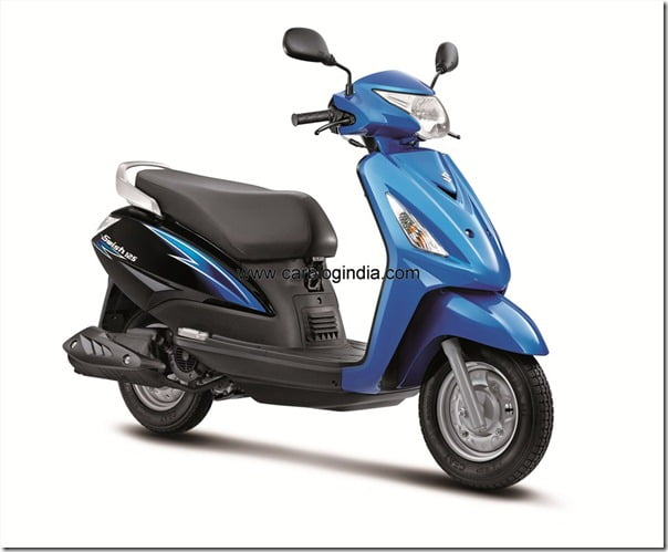 Suzuki swish_3-4th Front_Blue