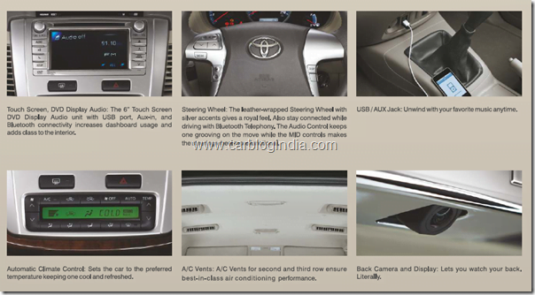 Toyota Innova 2012 New Model Features