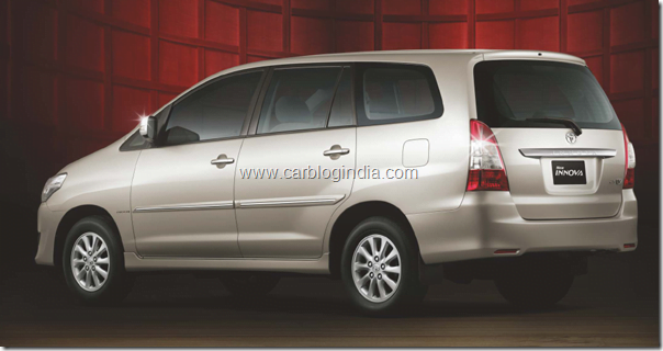 Toyota Innova 2012 New Model Rear