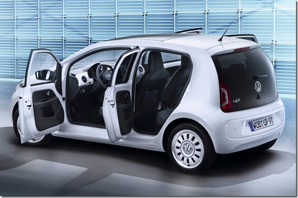Volkswagen Up 4-Door Model Official Pictures Released – India Bound Model To Look Like This