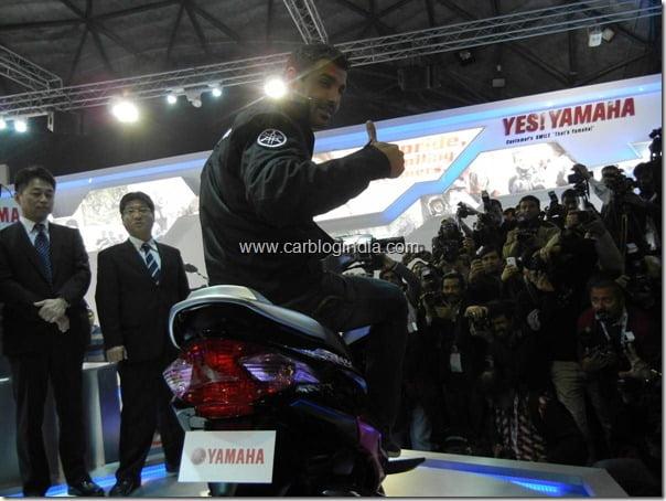Yamaha Ray Unvieling at Auto Expo 2012