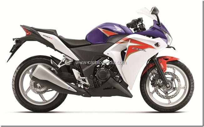 Honda CBR 250R 2012 Pearl Heron Blue Tri-Colour Launched In India– Price and Details