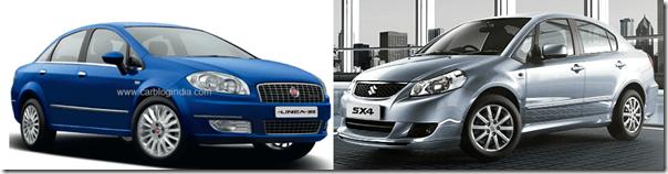 Fiat Linea 2012 vs Maruti SX4