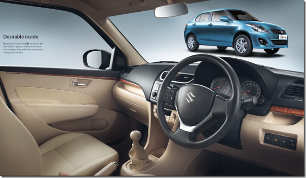 Maruti Swift Dzire 2012 Interiors