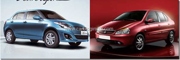 Maruti Swift Dzire 2012 Diesel Vs Tata Indigo e-CS Diesel–Which Sedan Is Better And Why?