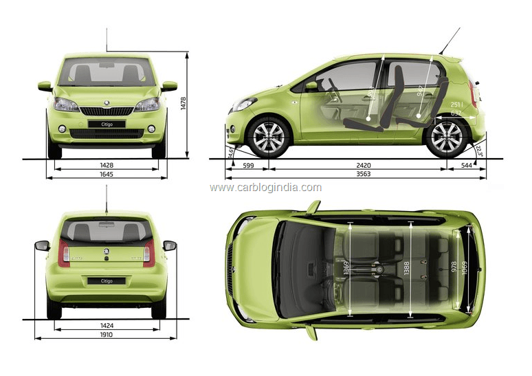 skoda citigo small car india pictures features and details. Black Bedroom Furniture Sets. Home Design Ideas