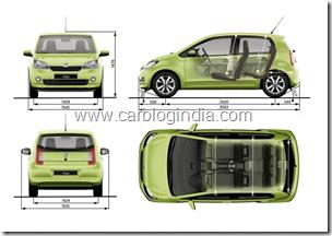 Skoda Citigo Small Car India Interiors and Dimensions (1)