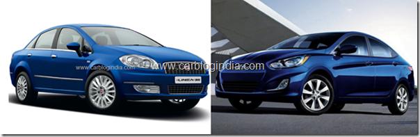 Fiat Linea 2012 Vs Hyundai Verna Fluidic