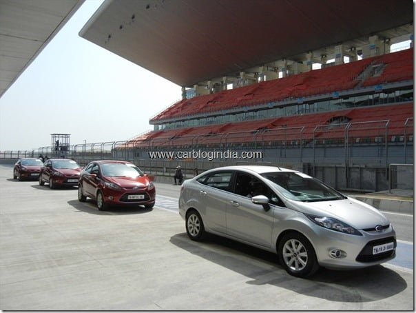 Ford Fiesta Automatic On Buddh International Circuit