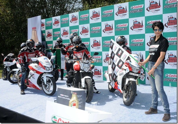 Gul Panag flags off the rally.1
