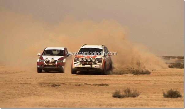 Mahindra XUV5OO Wins 3rd Place At Desert Storm 2012 Car Rally (4)