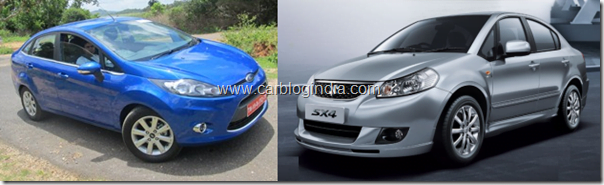 New Model Ford Fiesta Vs Maruti SX4