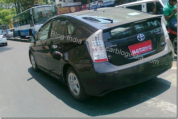 Toyota Prius On Test New Model Spied In Bangalore