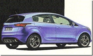 Ford Fiesta 2015 Hatchback Side and Rear View