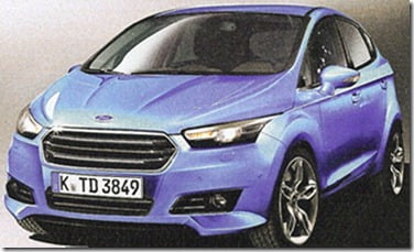 Ford Fiesta 2015 Hatchback Front and Side View