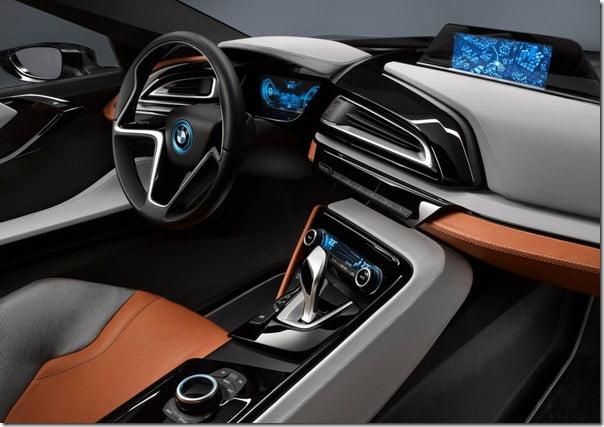 BMW i8 Spyder interiors