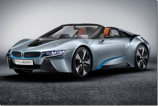 BMW i8 Spyder studio front