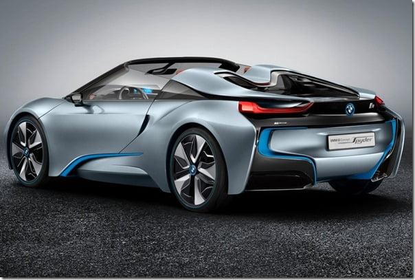 BMW i8 Spyder studio rear