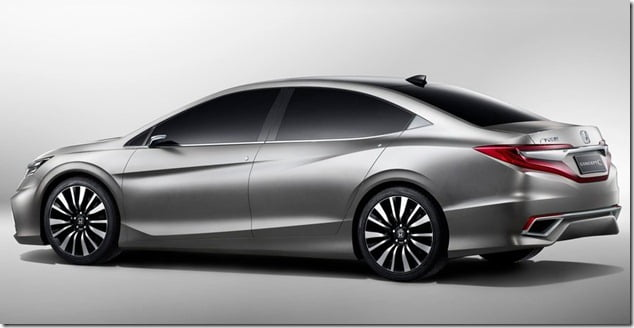 Honda C Concept Sedan Rear Side
