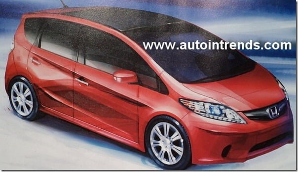 Honda Jazz 2013 Model Rendering