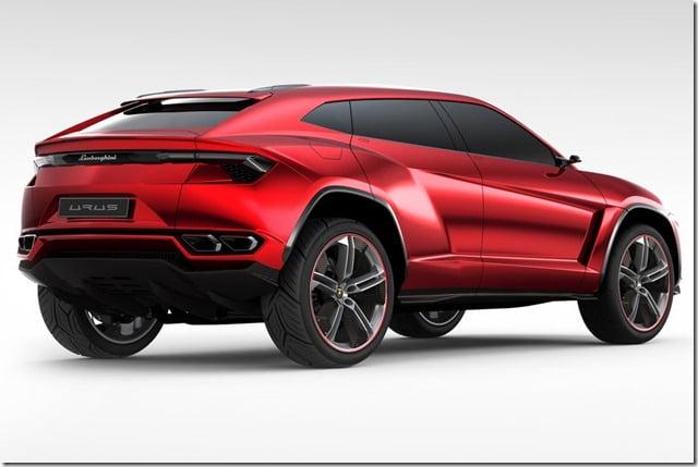 Lamborghini Urus Concept SUV Rear Angle