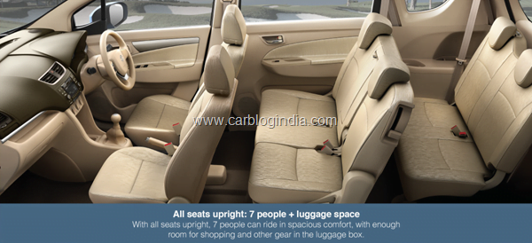 Maruti Ertiga LUV Interiors Seating Arrangement 1