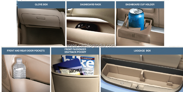 Maruti Ertiga LUV Interiors Storage Options