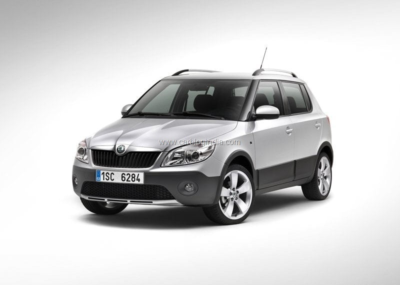 skoda fabia scout officially launched in india price and. Black Bedroom Furniture Sets. Home Design Ideas