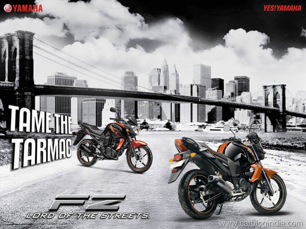 Yamaha FZ-S 2012 Black Orange New Colour3