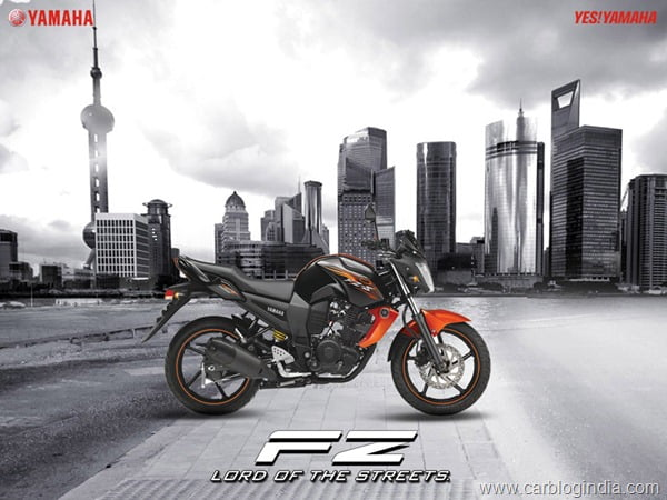 Yamaha FZ-S 2012 Black Orange New Colour4