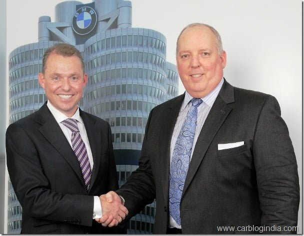 Mr Dan DeChristopher, MD and CEO, BMW Financial Services India with Dr Andreas Schaaf, President, BMW India