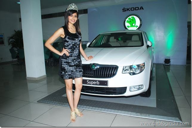 Ms.Vanya Mishra,Pantaloons Femina Miss India World 2012 at the launch of Superb Ambition in Chandigarh