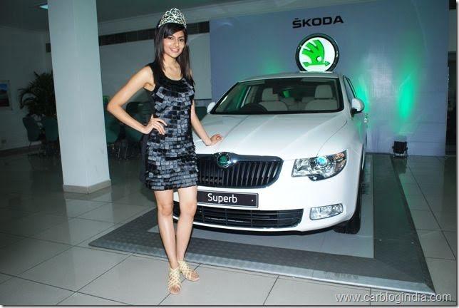 Ms.Vanya Mishra,Pantaloons Femina Miss India World 2012 at the launch of Superb Ambition in Chandigarh