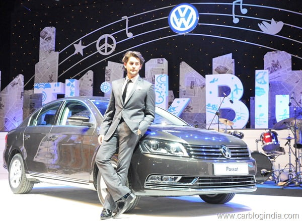 Neil Nitin Mukesh presented with Volkswagen Passat will support Think Blue. initiatives for Volkswagen in India