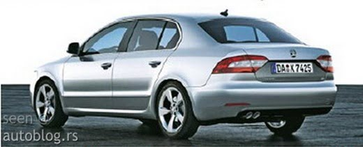 2013 Skoda Superb Rendering