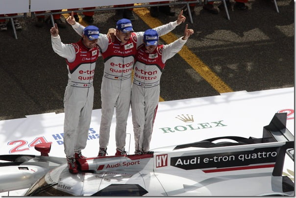 Audi R18 e-tron quattro #1 (Audi Sport Team Joest),  Marcel F‰ssler (CH), AndrÈ Lotterer (D), BenoÓt TrÈluyer (F)