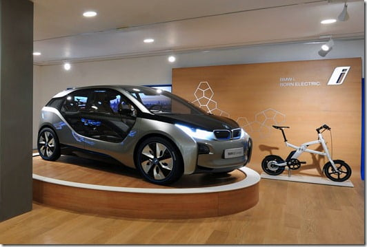 BMW Opens BMW i Electric Car Store In London
