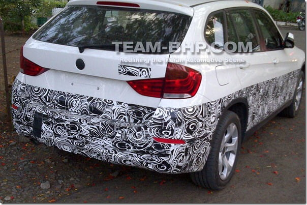 BMW X1 Facelift Spy Picture Rear