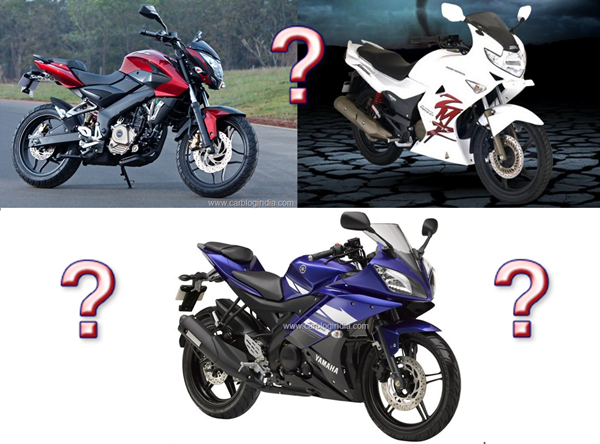 Bajaj Pulsar 200NS Vs Yamaha R15 Vs Hero Karizma ZMR