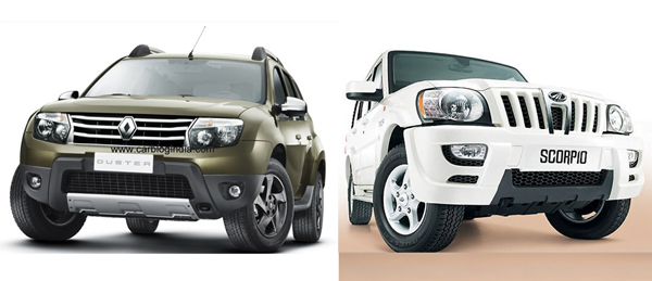 Renault Duster Vs Mahindra Scorpio–The Battle Of The Utility Vehicles