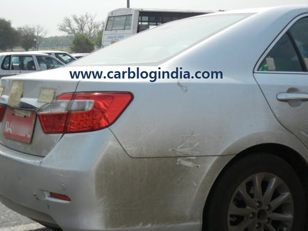 2012 Toyota Camry India Spy Pictures By CarBlogIndia.com (3)
