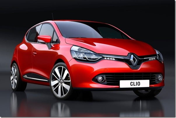 2013 Renault Clio studio shot front red
